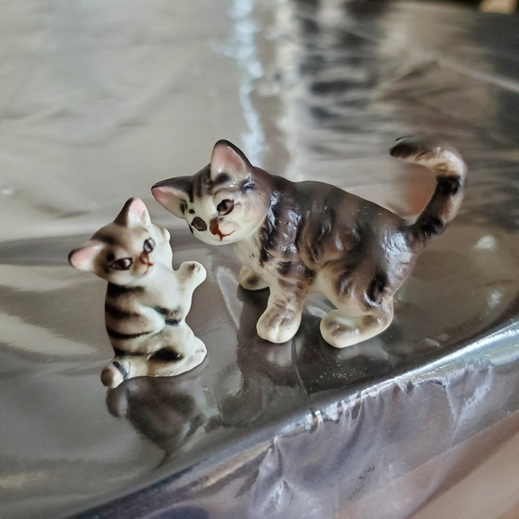 None Other - Miniature Tabby Cat 2 pc Set